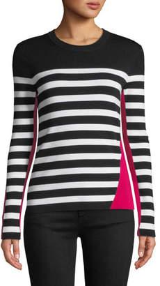 Rag & Bone Cecilee Crewneck Striped Colorblock Pullover Sweater