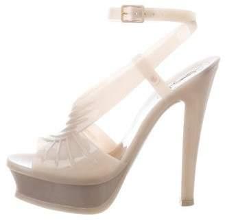 Saint Laurent Jelly Platform Sandals