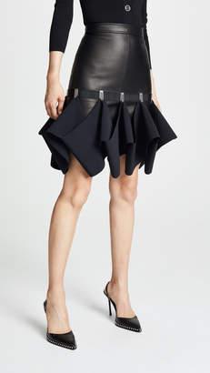 Dion Lee Leather Hook Miniskirt
