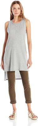 Mod-o-doc Women's Supreme Jersey Henley Tunic with Side Slits