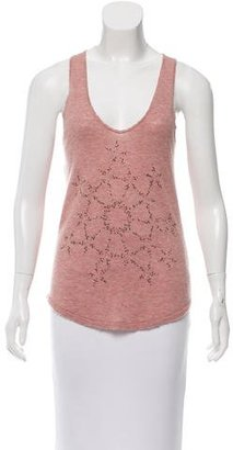 Zadig & Voltaire Cashmere Embellished Top $85 thestylecure.com