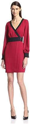 Society New York Women's Side Button Wrap Dress