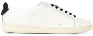Saint Laurent contrast lace-up sneakers