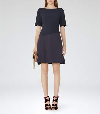 Reiss Zila Textured Fit And Flare Dress