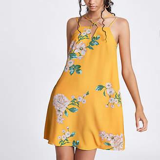 River Island Yellow floral cami slip dress