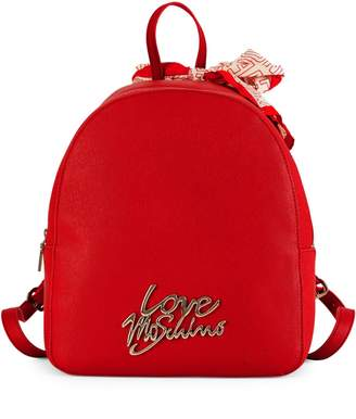 Love Moschino Dome Tie Scarf Backpack