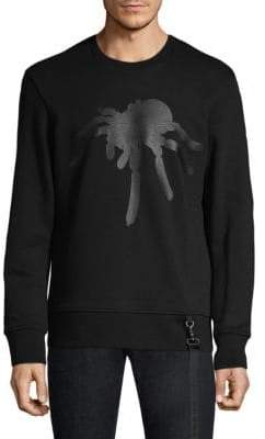 Black Barrett Cotton Spider Print Sweater