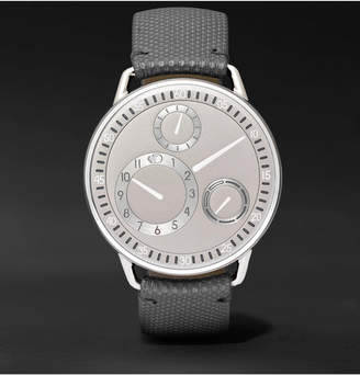 Ressence Type 1 Mechanical 42mm Titanium And Leather Watch