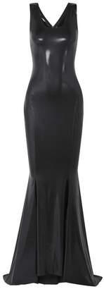 Norma Kamali Stretch-lamé Gown - Black