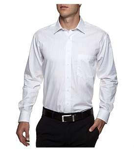 Geoffrey Beene Sapodilla Self Stripe Shirt Regular Fit Single Cuff