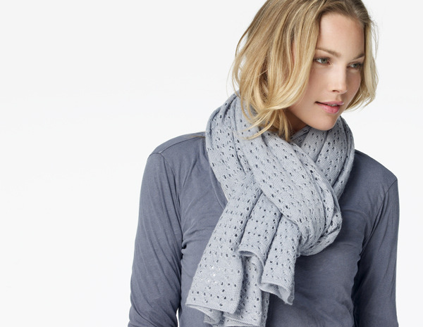 James Perse Open Stitch Scarf