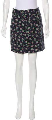 See by Chloe Floral Mini Skirt