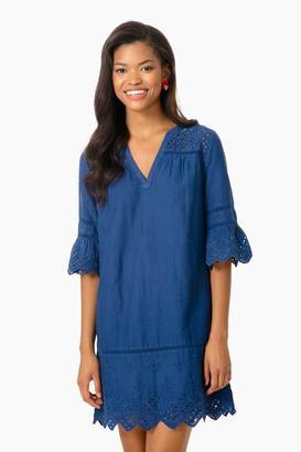 Vineyard Vines Moonshine Eyelet Shift Dress $148 thestylecure.com