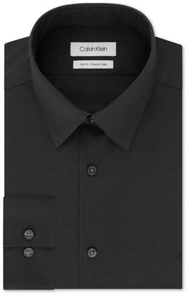 Calvin Klein Men's Slim-Fit Stretch Flex Collar Solid Logo Dress Shirt