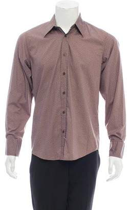 HUGO BOSS Boss by Patterned Point Collar Button-Up