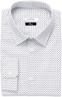 Versace White Printed Trend Fit Dress Shirt