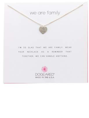 Dogeared Sterling Silver We Are Family Forever Heart Pendant Necklace