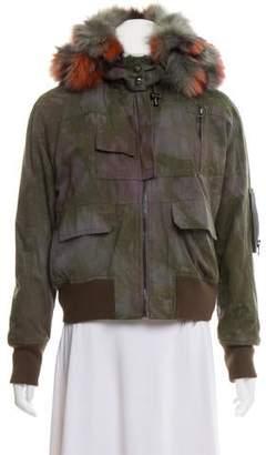 ca2267dd0a23 Jocelyn Faux Fur-Trimmed Zip-Up Jacket