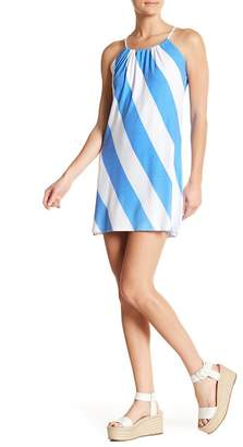 American Twist Gathered Halter Neck Minidress