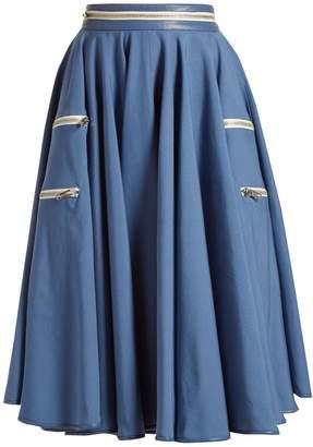 Calvin Klein Panama flared midi skirt