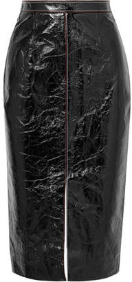 Roland Mouret Birch Crinkled Patent-leather And Jersey Skirt - Black