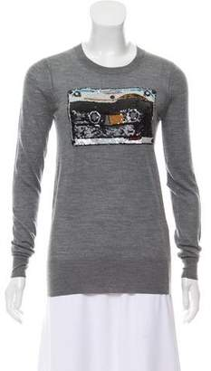 Markus Lupfer Sequined Long Sleeve Sweater