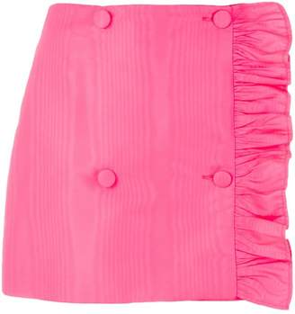 MSGM asymmetrical ruffle mini skirt