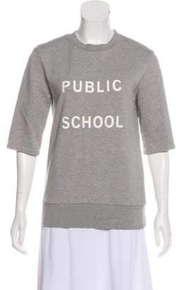 Public School Graphic Short Sleeve Top