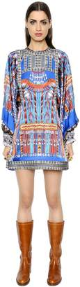 Etro Liquorice Printed Silk Twill Dress