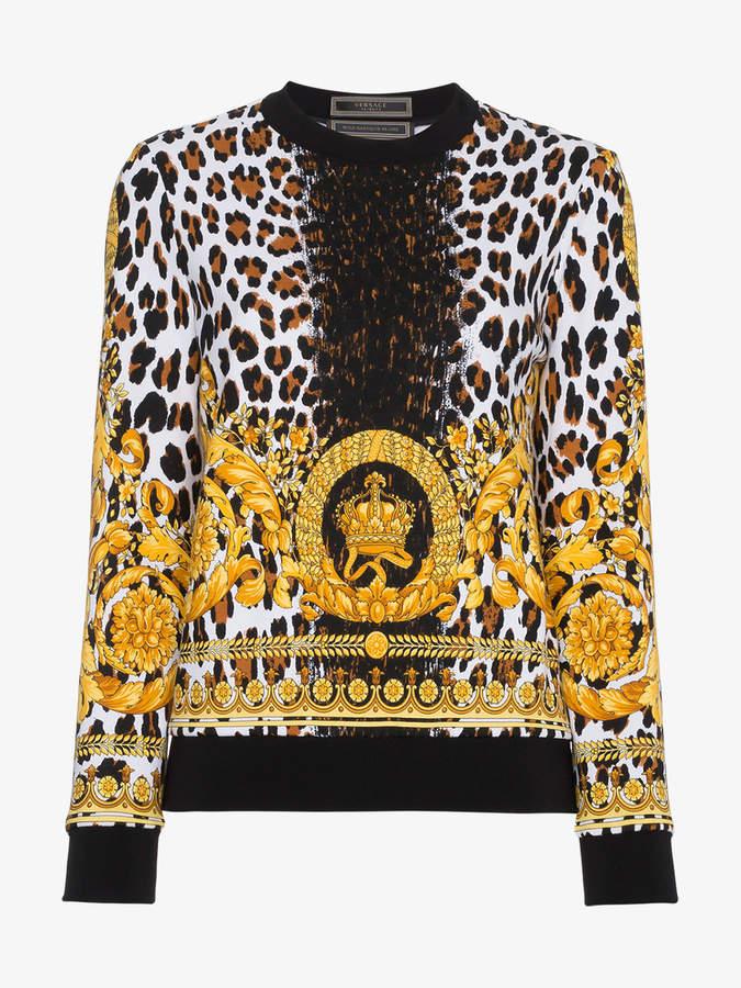 Wild Baroque Print Sweatshirt