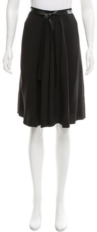 prada Prada Crepe Knee-Length Skirt