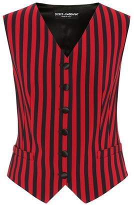 Dolce & Gabbana Striped silk-blend vest