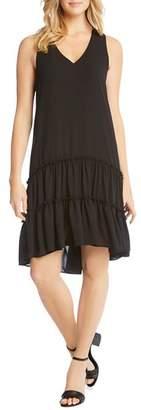 Karen Kane Tiered Drop-Waist Ruffle Dress