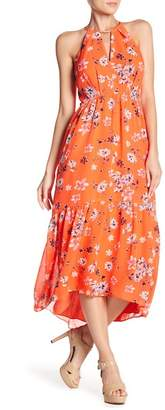 Vince Camuto Floral Printed Hi-Lo Dress