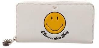 Anya Hindmarch Smiley Zip Round Wallet