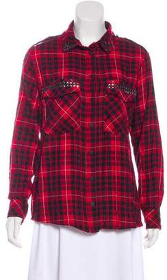 Sanctuary Studded Plaid Top w/ Tags