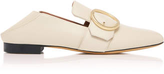 Bally Lottie Buckled Leather Loafers
