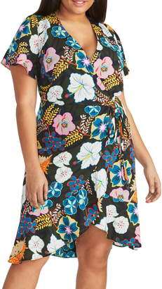 Rachel Roy Floral Print Wrap Dress