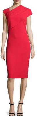 Ralph Lauren Collection Sonya Cap-Sleeve Sheath Dress, Bright Red $1,750 thestylecure.com