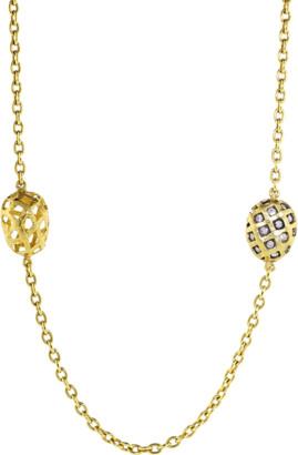 Yossi Harari Roxanne Rattan Wrap Diamond Necklace