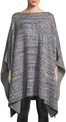 Missoni Reversible Knit Wool-Mohair Poncho