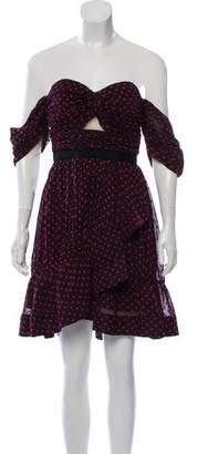 Self-Portrait Off-The-Shoulder Mini Dress w/ Tags