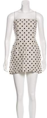 Bec & Bridge Linen Polka Dot Sleeveless Top