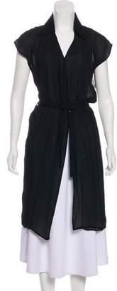 CNC Costume National Short Sleeve Longline Cardigan
