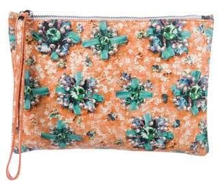 Mary Katrantzou Leather Zip Pouch