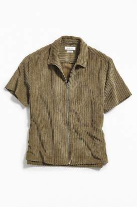 Urban Outfitters Corduroy Short Sleeve Zip Shirt