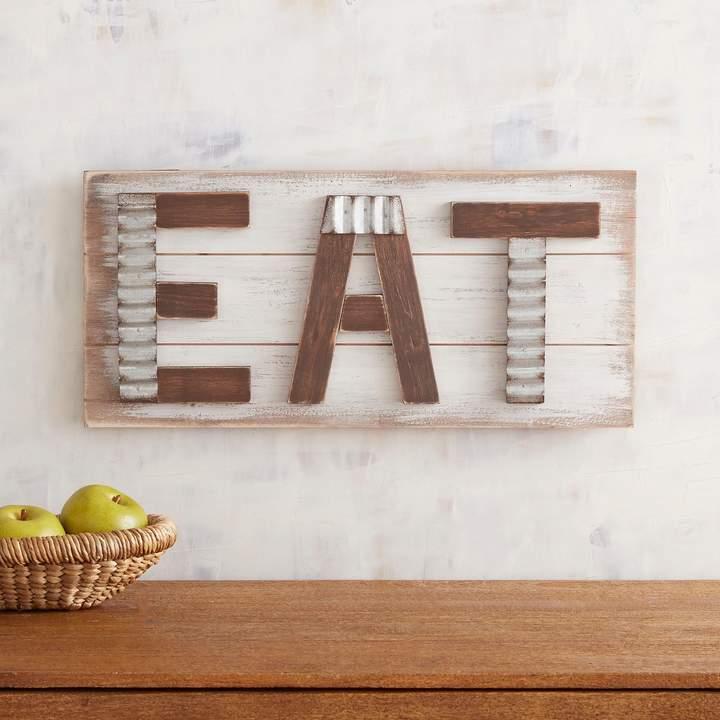 Whitewashed Eat Wall Decor