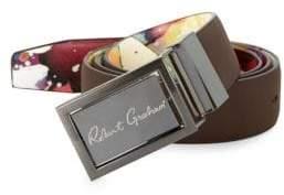 Robert Graham Eclipse Reversible Faux Leather Belt