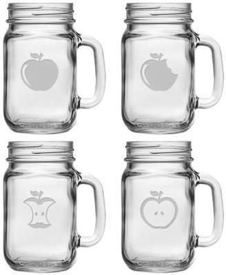 Susquehanna Glass Eat An Apple 16 oz. Drinking Jar