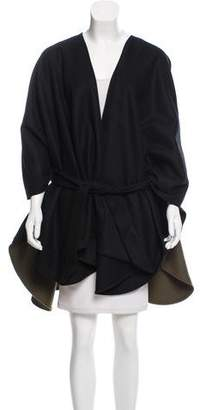 Donni Charm Belted Two-Tone Cape w/ Tags